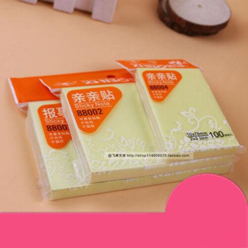 1 x 100 Haftnotizen 50x76mm Klebezettel Büro Haftnotiz Notes Marker Büroware