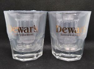 2 Dewar's Double Shot Rocks Glasses NEW in Packaging Blended Scotch Whisky
