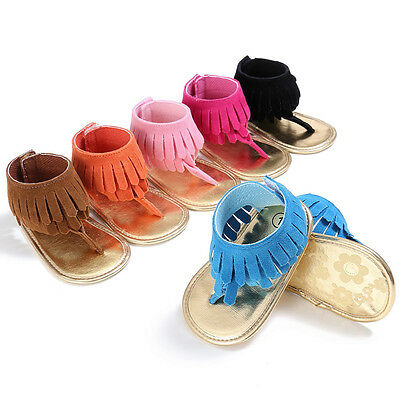 Lovely Baby Girl Bow Decor Princess Shoes Casual Toddler Infant Tassels Sandals