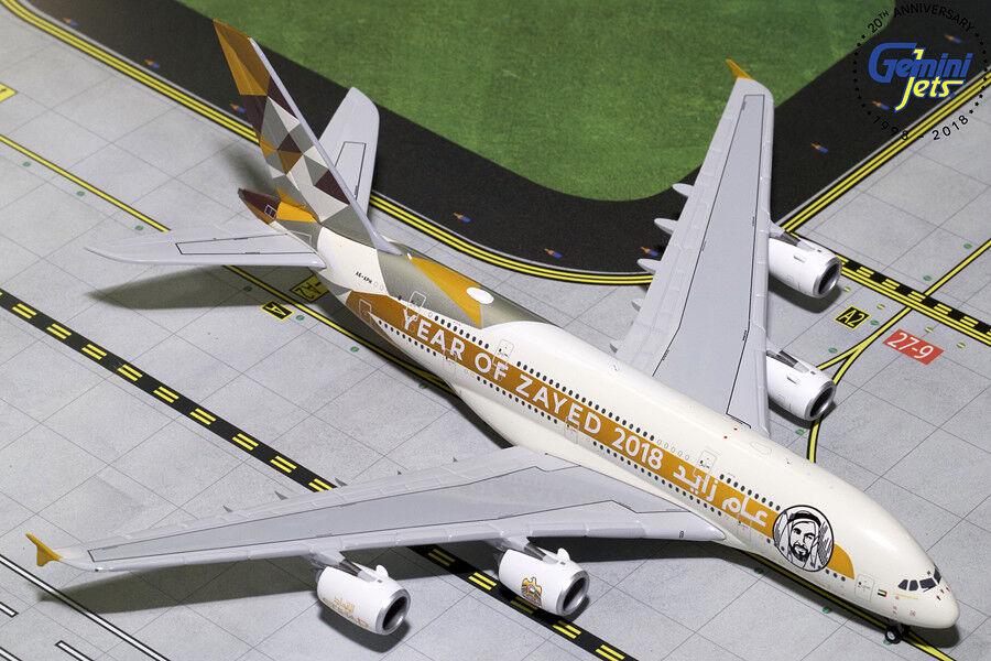 Gemini Jets Ethiad Airways Airbus A380-800 1 400 DIE-CAST gjetd 1813 año Fee