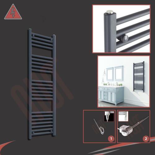 W 300 mm Droite Anthracite électrique sèche-serviettes 250//300W H x 1200 mm