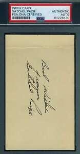 Satchel-Paige-PSA-DNA-Coa-Autograph-Hand-Signed-3x5-Index-Card