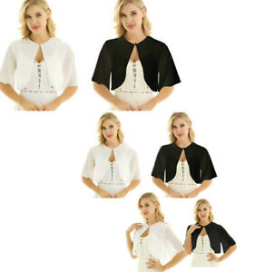 Womens-Bolero-Shrug-Open-Front-Cropped-Cardigan-Mini-Casual-Slim-Coat-Jacket-Top