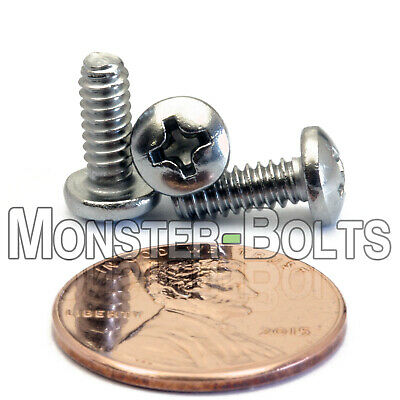 """Qty 25 Phillips PAN HEAD Machine Screws A2 18-8 Stainless Steel #6-32 x 3//8/"""""""