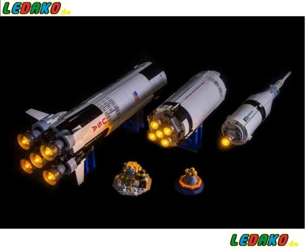 Dynamique Del Beleuchtungsset Pour Lego ® Pour 21309 The Apollo Saturn De Ledako Light Kit-t Für Lego® Für 21309 The Apollo Saturn Von Ledako Light Kit Avoir Un Style National Unique