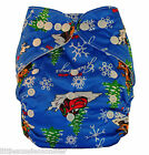 Brand New Reusable Modern Cloth Nappy MCN with FREE Insert - Aliens Spaceships