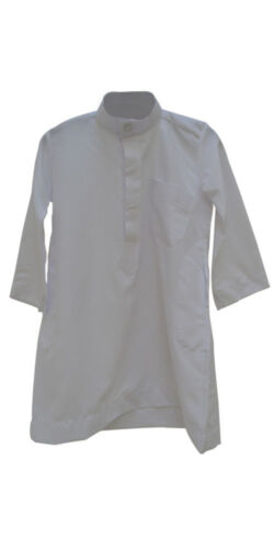 Young Boys Value Thobe Dress Child Kids Robe Gown White Long Formal Eid Party BN