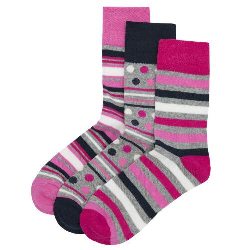 Cottonique Ladies Cotton Rich Comfort Fit Non-Elastic Top Socks 4-8