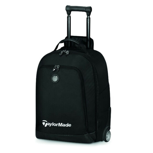 New Taylormade Players Rolling Carry On Travel Bag Suitcase Luggage Black