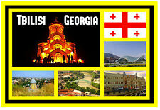 TBILISI, GEORGIA - SOUVENIR NOVELTY FRIDGE MAGNET - SIGHTS - GIFT / XMAS