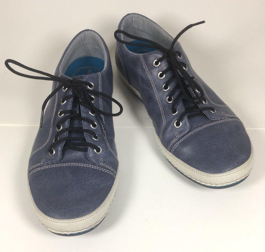Rockport bluee Lace-up Deck-Boat-Tennis shoes Men's 7M Leather Upper V78271