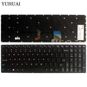 New-For-Lenovo-Y50-70-Y50-80-25215987-US-Black-Backlit-Keyboard-T6B2-US