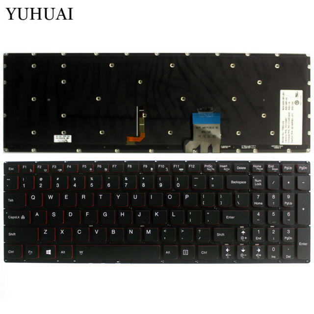 New For Lenovo G50-80 Flex 2 15 Flex 2 15D Keyboard US Backlit T6G1B-US 25214663