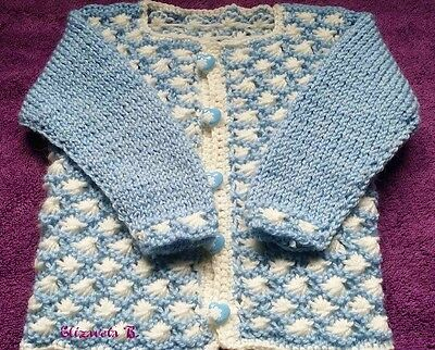 BN Baby Boys 0-3 Months Brown Hand Knitted Cardigan