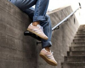 profesional Perspectiva refugiados  ❤ BNWB & Genuine Adidas Originals ® Gazelle Ash Pearl Suede Trainers UK  Size 10 | eBay