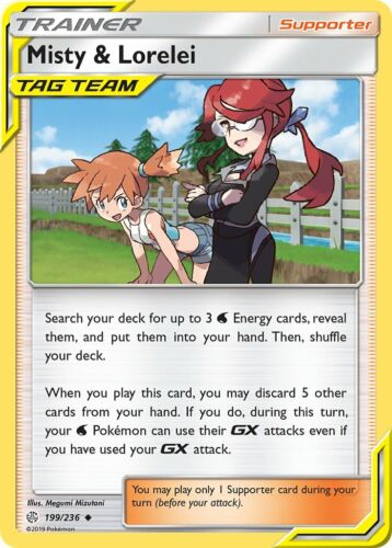 Misty /& Lorelei 199//236 COSMIC ECLIPSE MINT//NM Pokemon TCG