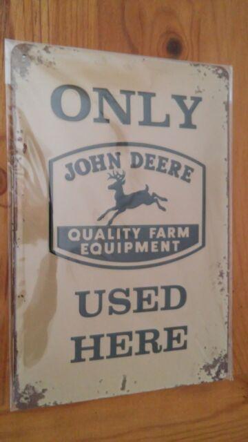 John Deere Used Here, 1 x 20 x 30cm (H/B/T), Blechschild