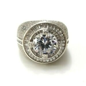 Overlay Handmade Ring Sterling Silver 925 11.6 Grams Size 9