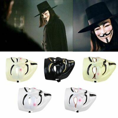 4 x Hacker Anonymous V per Vendetta GAMES MASTER Maschera Halloween