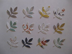 70+ Autumn Branch Martha Stewart paper punch outs, leafy fronds gold, teal. rust