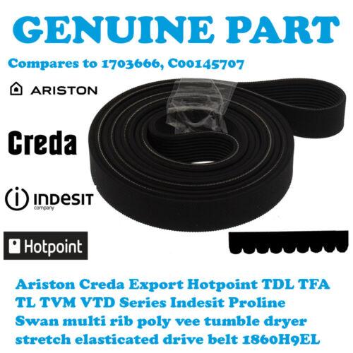 Hotpoint TVM560G Asciugatrice TVM560P Poly Vee Cinghia di trasmissione 1860H9EL C00145707