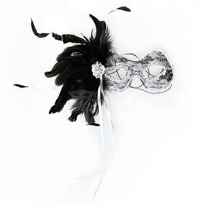 1920s The Great Gatsby Veneziano Masquerade Maschera Per Donne J-6936 - Nero/