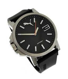 Orig-Puma-Uhr-Herren-PU102941006-Plastik-schwarz-Analog-10ATM-UVP-105-NEU