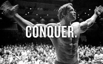 "06 Arnold Schwarzenegger - Bodybuilder Olympia Universe Conquer 38""x24"" Poster"