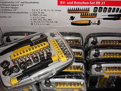 Bit und Ratschen Set BR 31 Teile in Box NEU Bit Nuss Ratsche Schraubendreher