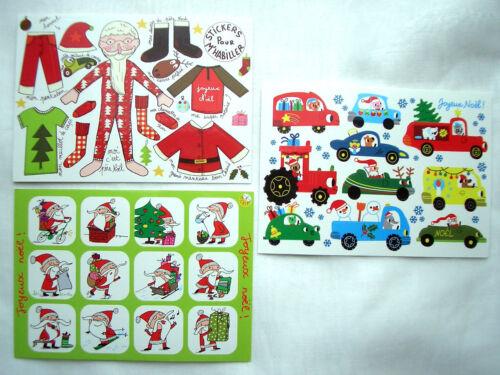*Zauberhafte*Sticker/&Postkarte*Kinder*Weihnachten*Santa´s /& Autos*...*10 x15cm