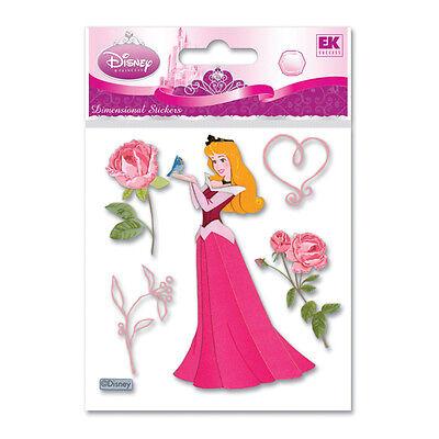 Disney Sleeping Beauty With Rose Aurora Maleficent Movie 3D Sticker
