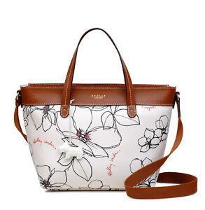 Radley-London-Linear-Floral-Medium-Zip-Top-Multiway-Bag-NEW-Beige