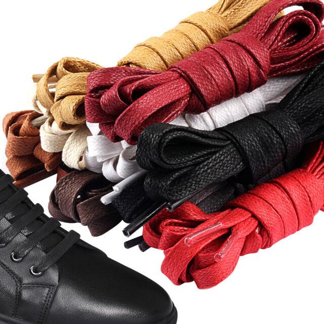 4cm Wide Of Flat Shoelaces Satin Ribbon Shoe Laces Sneaker Sport Shoes 39-59 OW