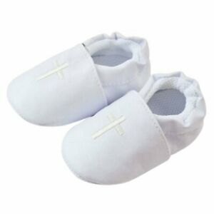 Baby Girls Toddler Soft Sole Baptism Christening Shoes White Infant Slippers