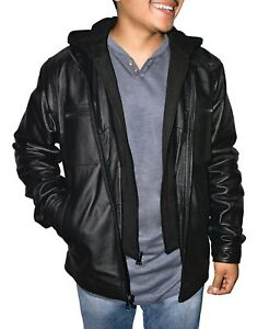 Victory-Outfitters-Men-039-s-Zip-Out-Removable-Hood-Genuine-Leather-Jacket