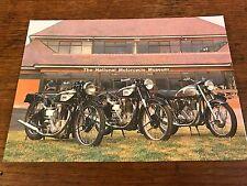 Vintage Norton International Models National Motorcycle Museum Postcard