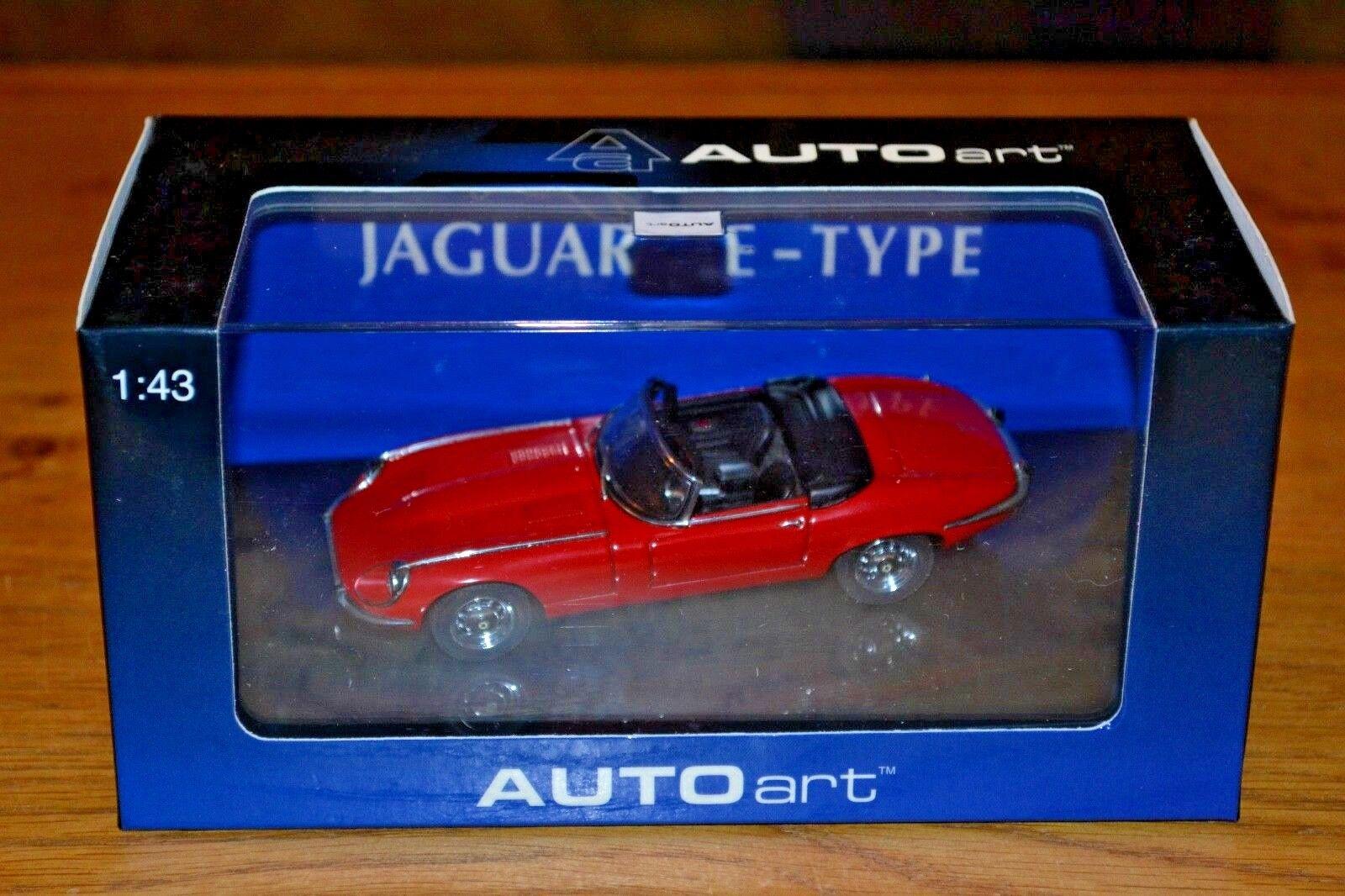 AUTOart 1 43 JAGUAR E-Type Roadster Series III V12; Rouge; near Comme neuf