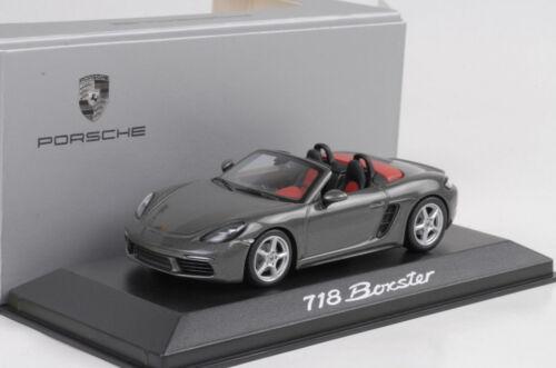 2016 Porsche 718 Boxster Achatgrau metallic 1:43 Minichamps Diecast WAP