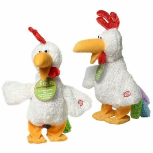 Erwin il torcerò pollo gallinaccio Scherzo Articolo PELUCHE secondo ballare pollo in peluche divertente