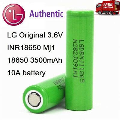 "Brand New /""2/"" LG 18650-MJ1 10A 3500mAh IMR High Drain LGDBMJ118650 Battery"