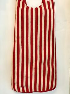 Red & Ivory White Striped Country Christmas Tree Skirt Linen Cotton Duck Fabric   eBay