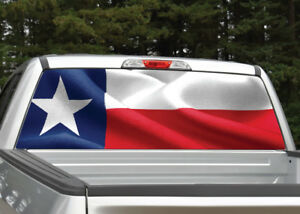 Truck Back Window Decals >> Details About Texas Flag Waving Rear Window Decal Graphic For Truck Suv