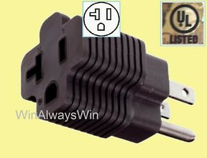 Image Is Loading 20 Amp To 15amp Plug Adapter 20a