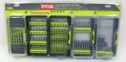 RYOBI A981503QP 150-PIECE Black Oxide Multi-Pack Drilling /& Driving Bit Set NEW