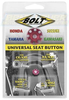 BOLT Replacement Seat Button Universal Kawasaki Honda Yamaha Suzuki Dirt Bike MX