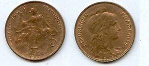 5 Centimes Dupuis 1917 Superbe Brillant D' Origine N°15 éGouttage