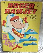 Roger Ramjet Coloring Book, 1966, RARE!
