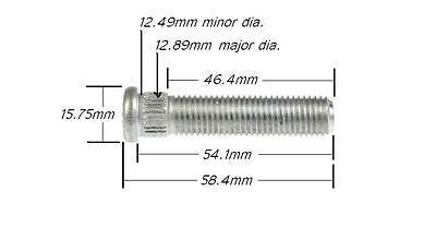 "5//8/"" LONGER THAN STOCK Wheel Stud Lug Bolt Extended Extra Length OEM Quality  ©"
