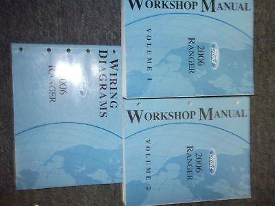2006 ford ranger truck service shop repair manual set w wiring diagram oem  book  ebay
