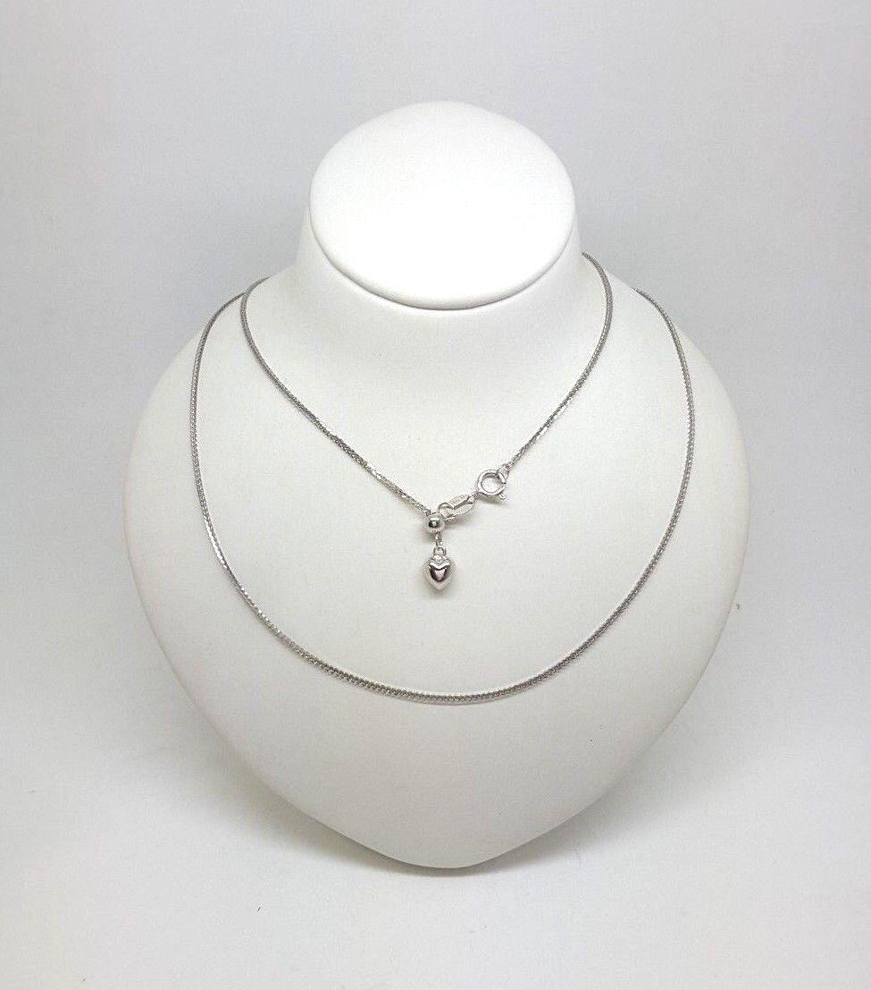 Miran 150638 18K (750) White gold Foxtail Chain 52cm 2.2g RRP  350